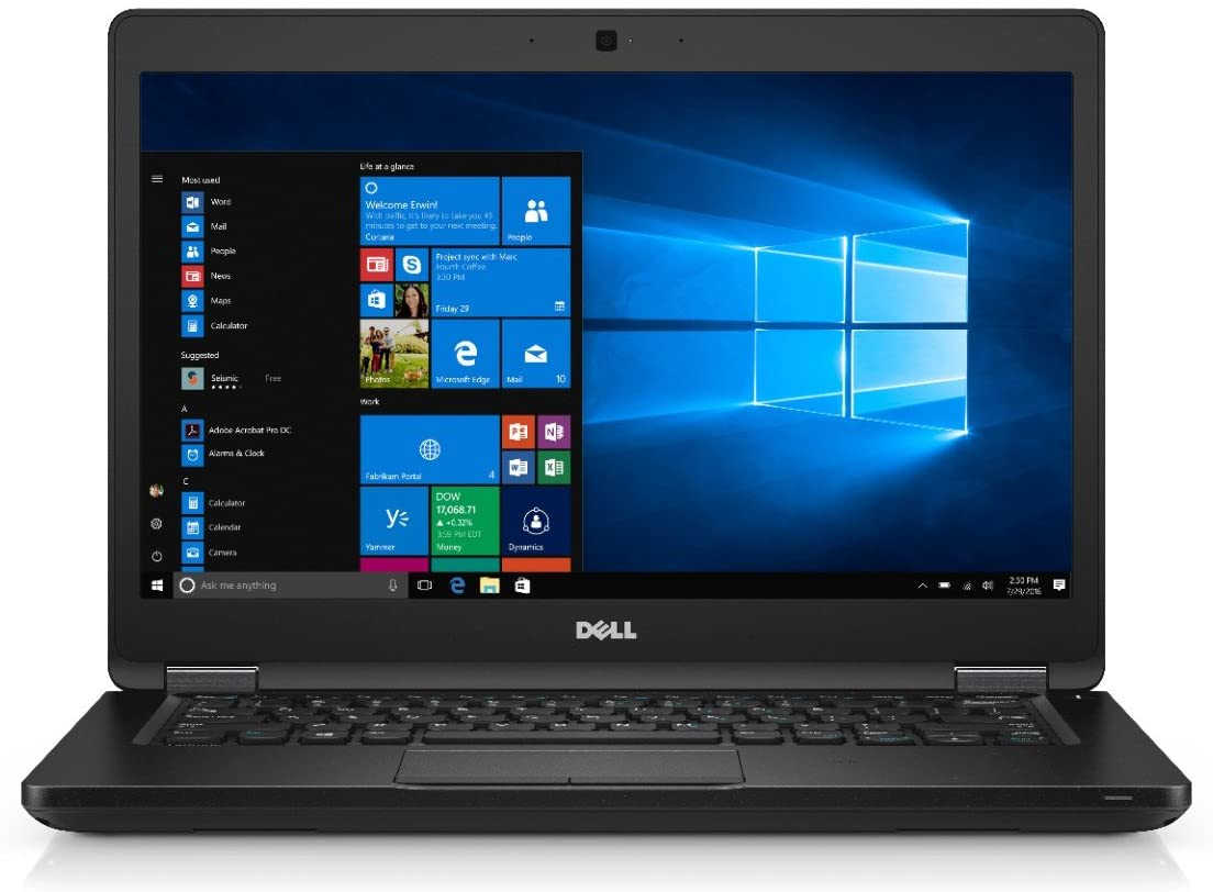 Dell Latitude 5480, Core i5-7300U, 8GB Ram, 500GB HD, 14, Win 10 Pro - No Webcam