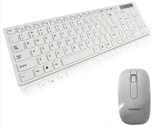 White Wireless Keyboard & Mouse Combo, New