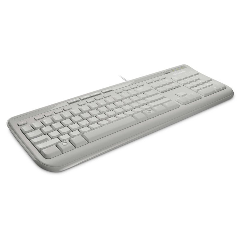 White Microsoft Keyboard 600 USB Wired, New