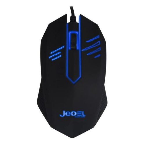 Jedel M20 Wired Optical LED Gaming Mouse, Blue LED, USB, New