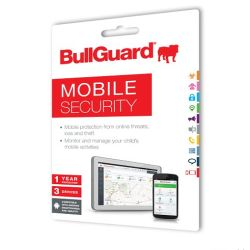 Bullguard Mobile Security for Android Tablets & Smartphones, 3 Devices, New