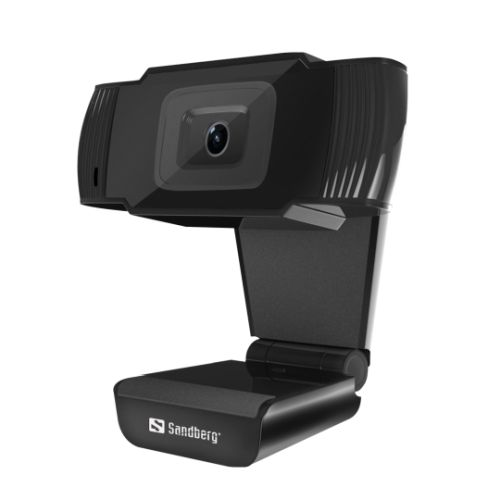Sandberg USB Webcam & Mic, HD480P, Auto Light Correction, New
