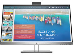 HP 1TJ76AA E243D 23.8 Docking Monitor, USB-C, Webcam, RJ-45, 4 x USB 3.0, VGA, HDMI, DisplayPort