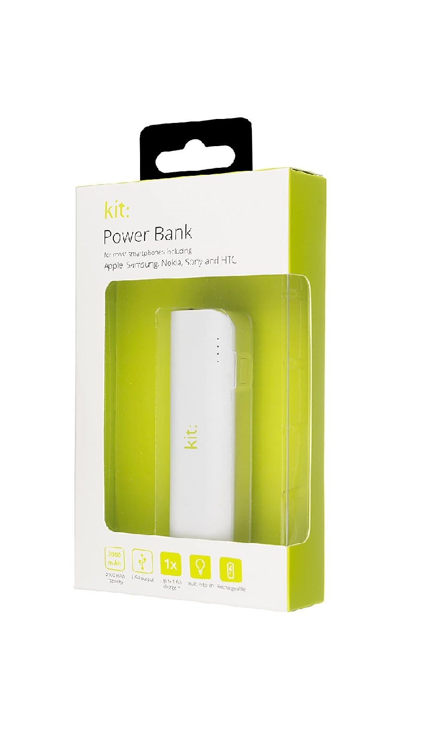 2000mAh USB Powerbank with built-in Torch, New, Retail Boxed